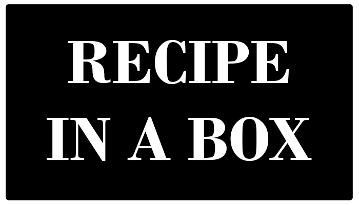 Recipes in a box, complete family meals ready to go